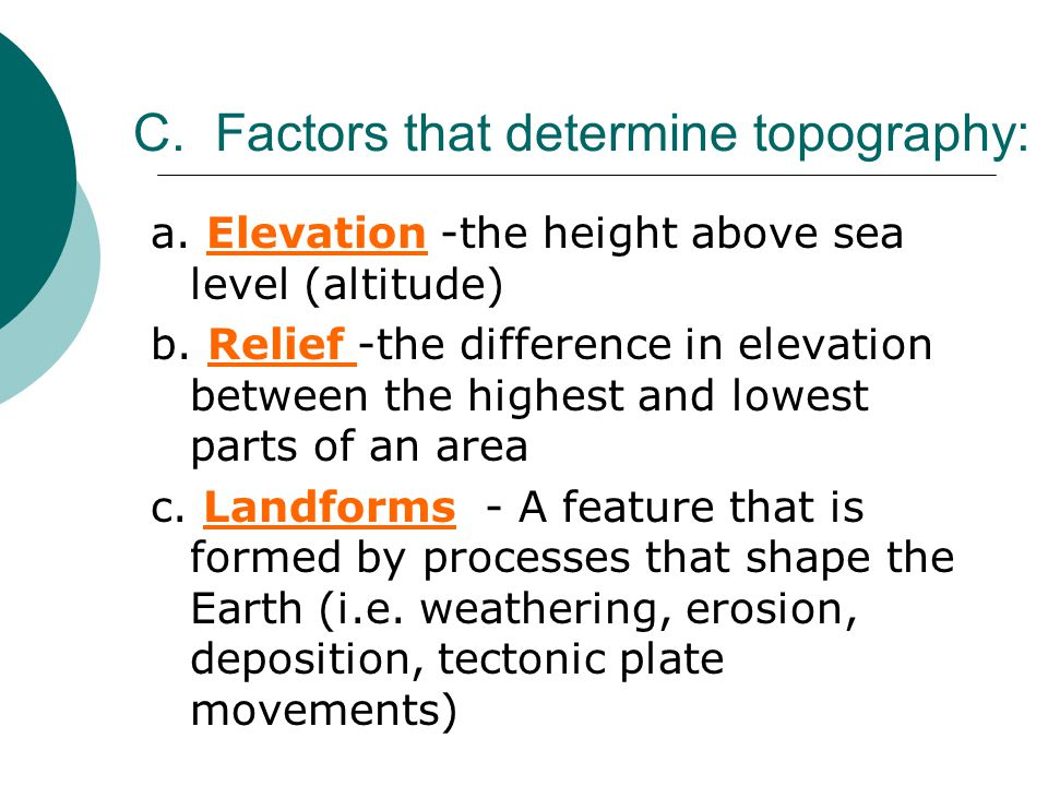 Topography Of The Earth Ppt Download - How to determine sea level elevation