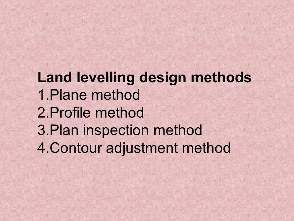 Land levelling design methods