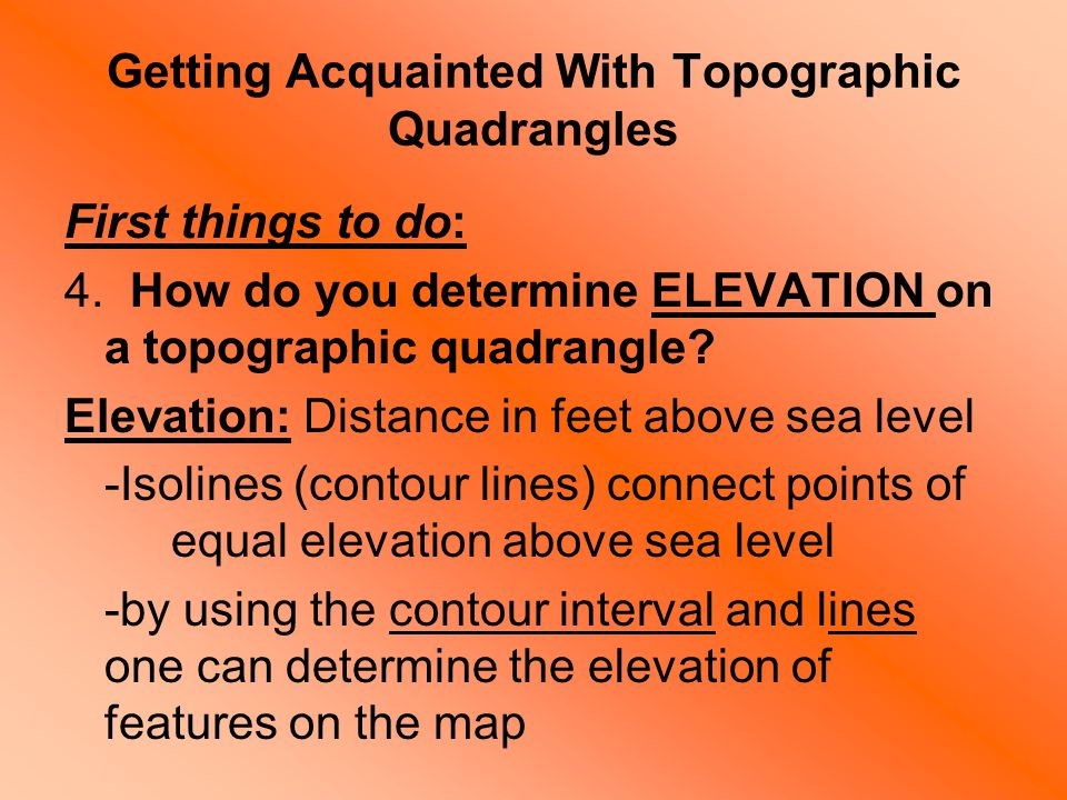 Topic A Look At The Earths Shape Coordinate Systems - How to determine sea level elevation
