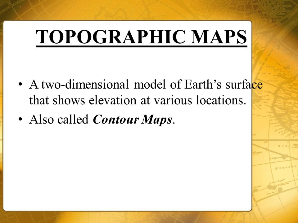 Topographic Maps September Ppt Download - Elevation locations