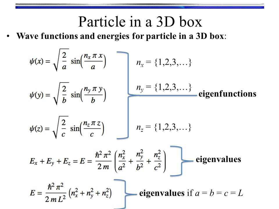 Particle In A Box Ppt Video Online Download