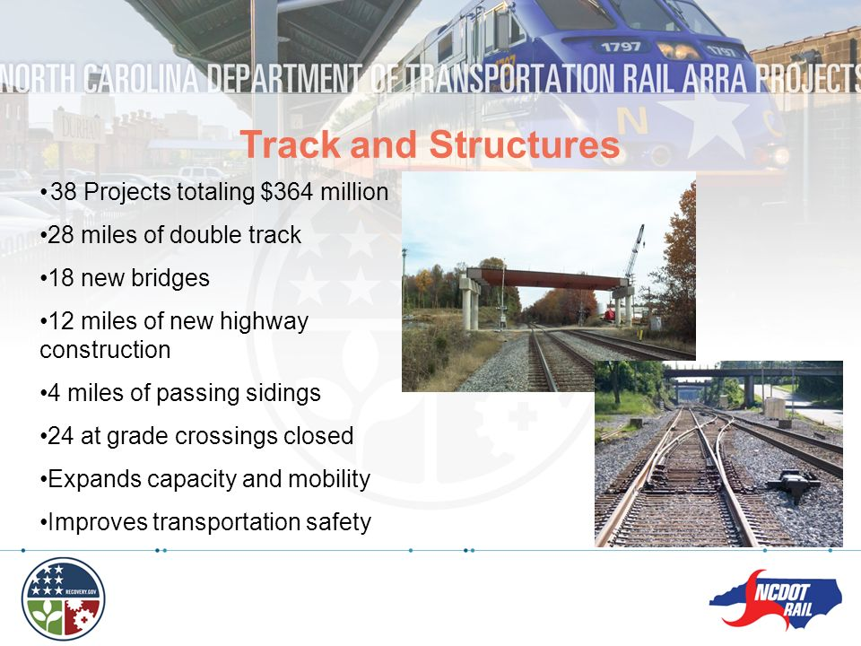 Track and Structures 38 Projects totaling $364 million