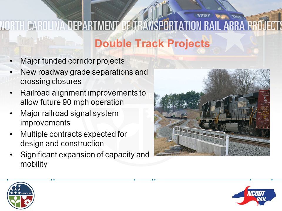 Double Track Projects Major funded corridor projects