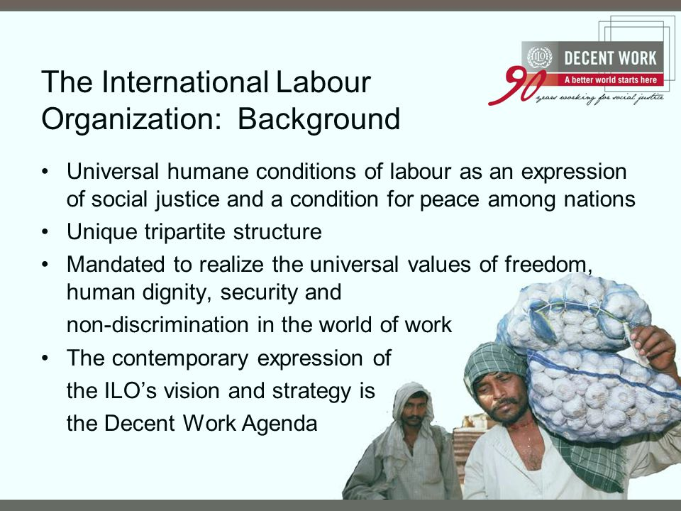 The International Labour Organization: Background