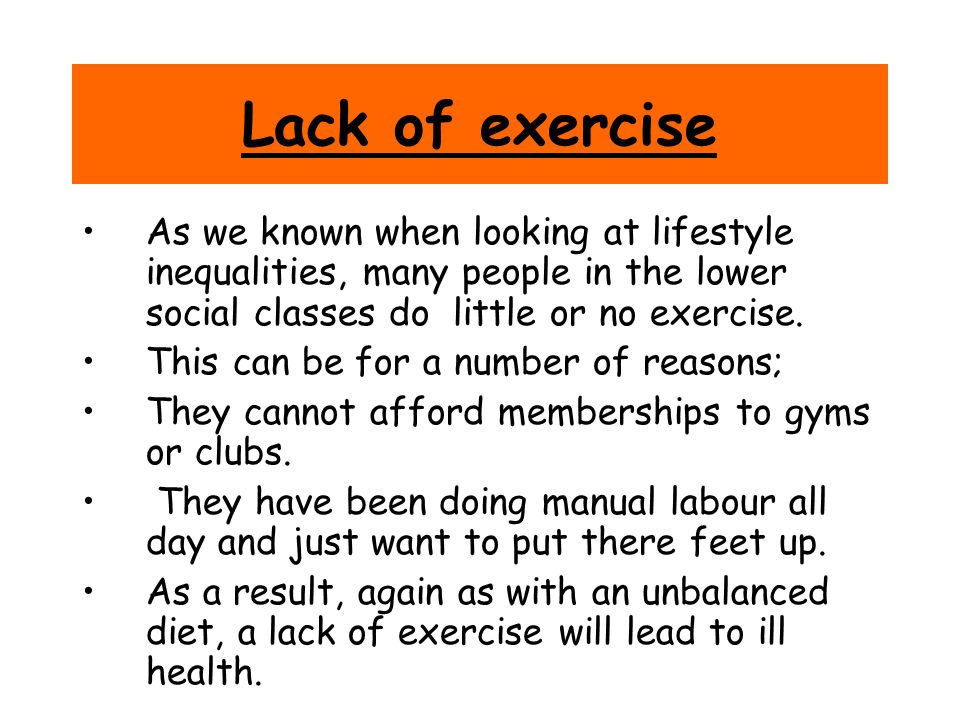 the causes of people exercise People exercise for a variety of reasons different reasons to exercise reflect  diverse motivations to exercise exploring the reasons that people exercise may.