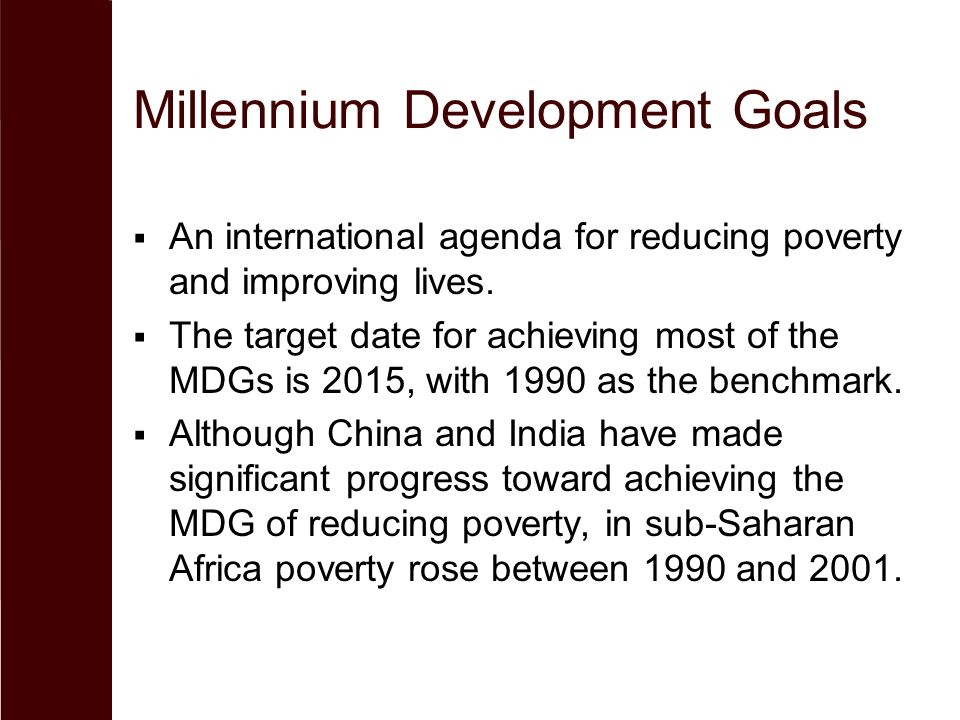 millennium development goals mdg for education and poverty Mdg indicators led by the department of economic and social affairs of the  the millennium development goals  all health areas as well as primary education.