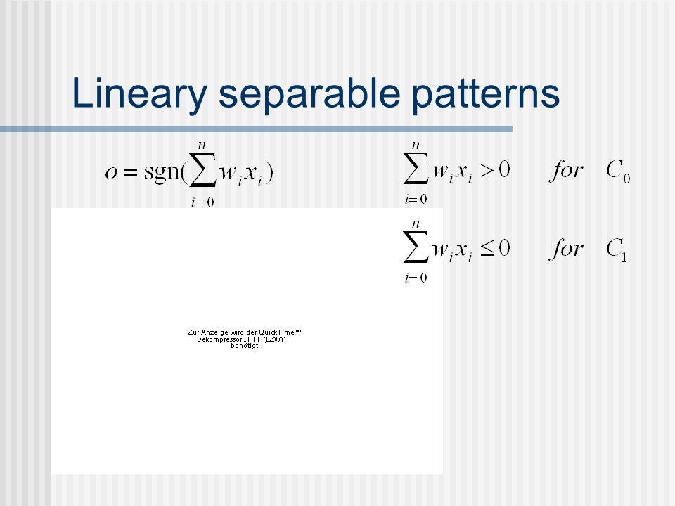 Lineary separable patterns