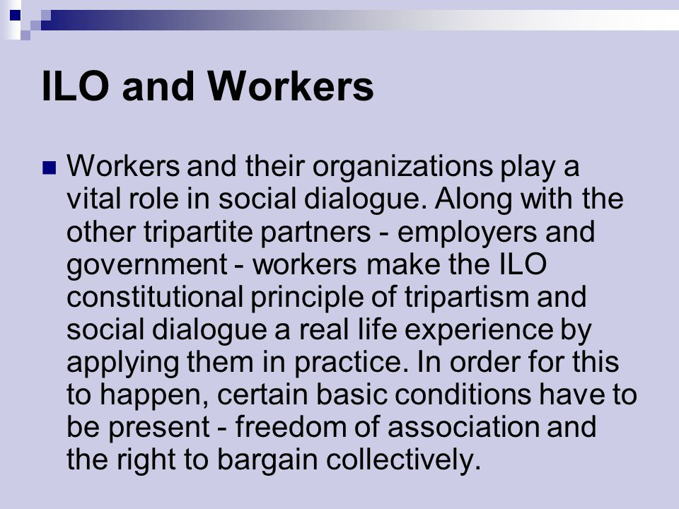 ILO and Workers