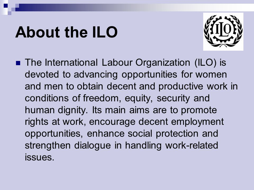 About the ILO