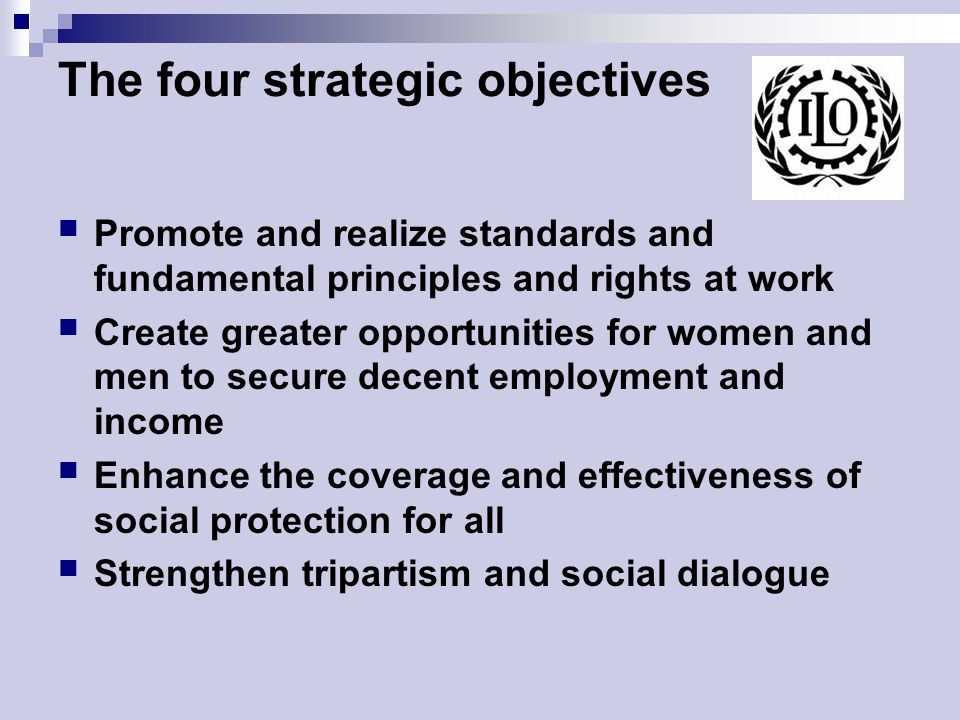 The four strategic objectives