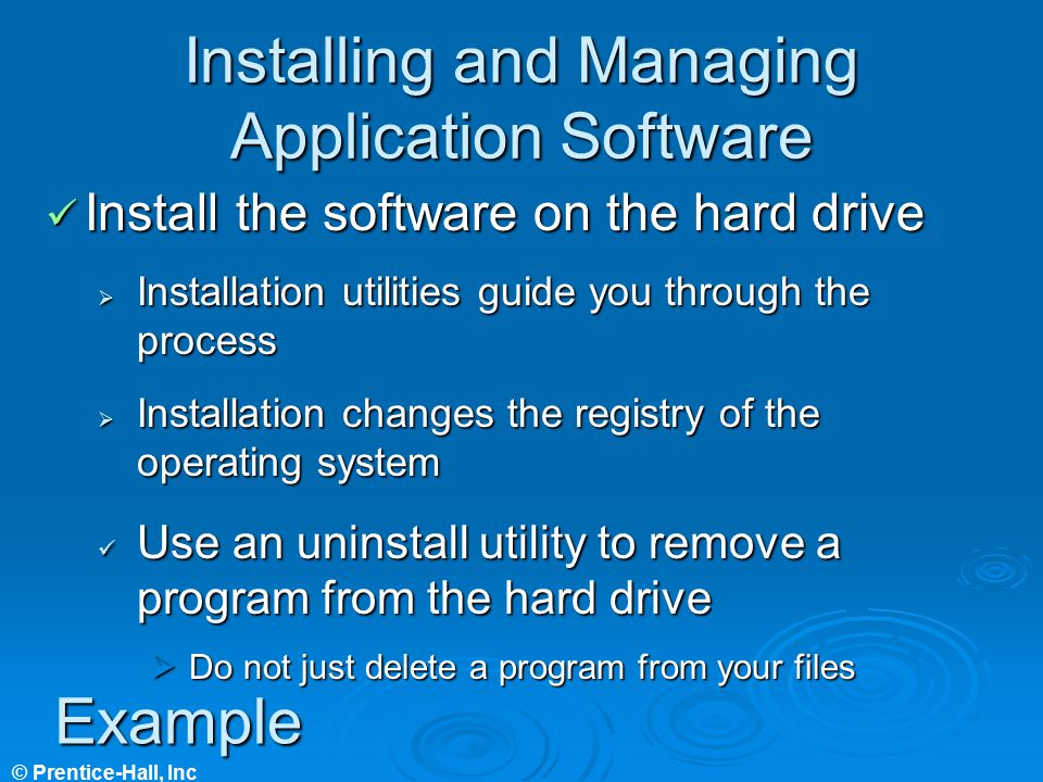 Installing and Managing Application Software