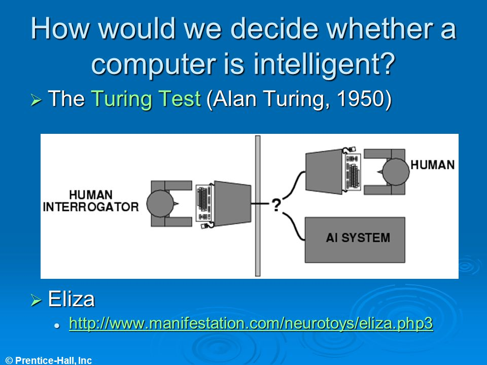 How would we decide whether a computer is intelligent