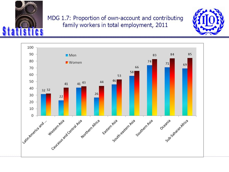 MDG 1.7: Proportion of own-account and contributing family workers in total employment, 2011