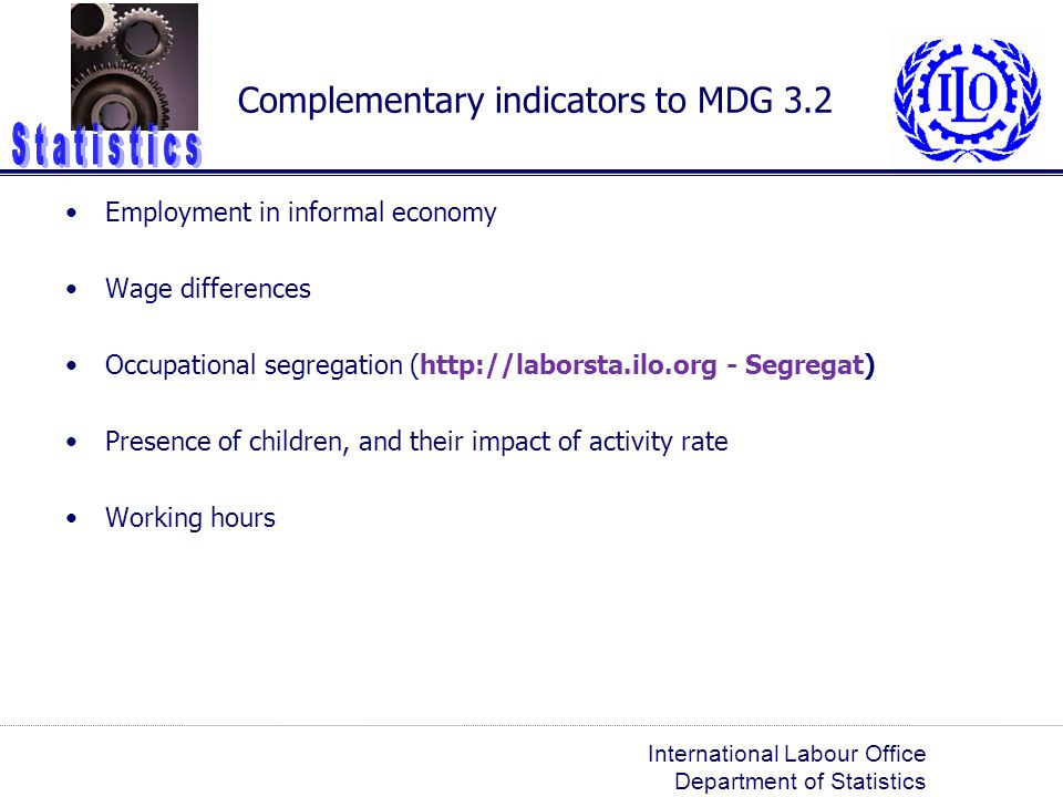 Complementary indicators to MDG 3.2