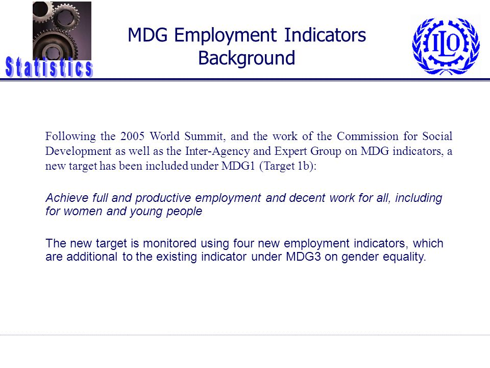 MDG Employment Indicators Background