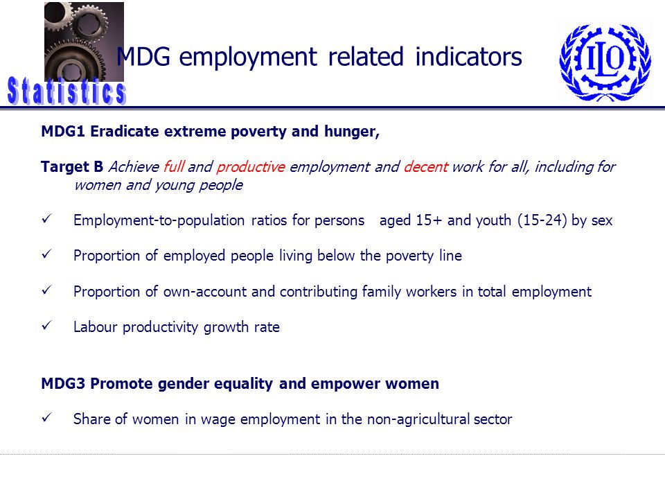 MDG employment related indicators