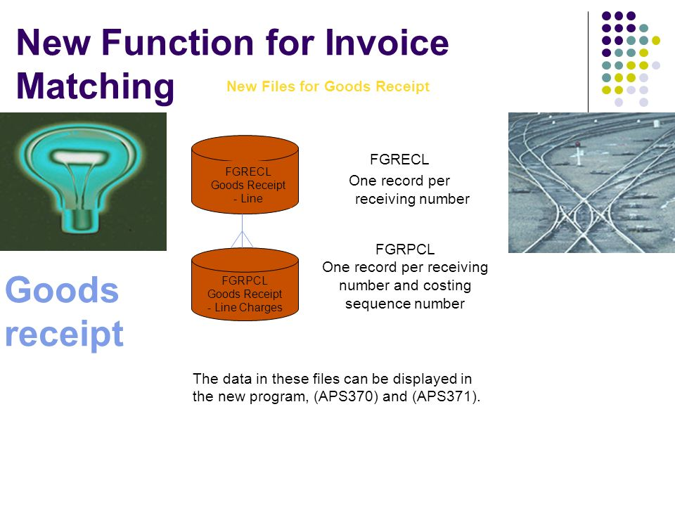 New Function for Invoice Matching