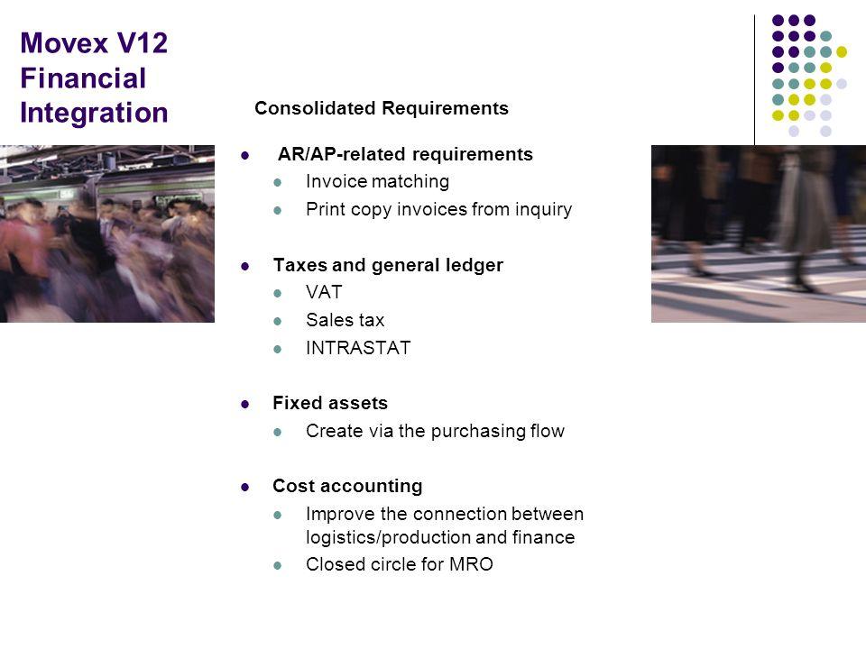 Movex V12 Financial Integration
