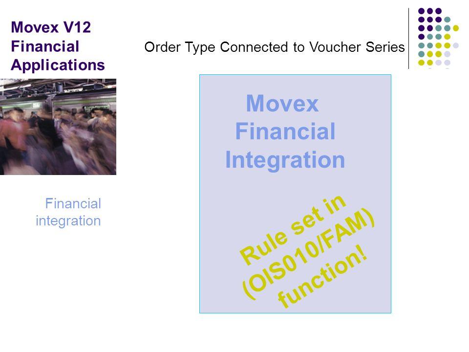 Movex V12 Financial Applications