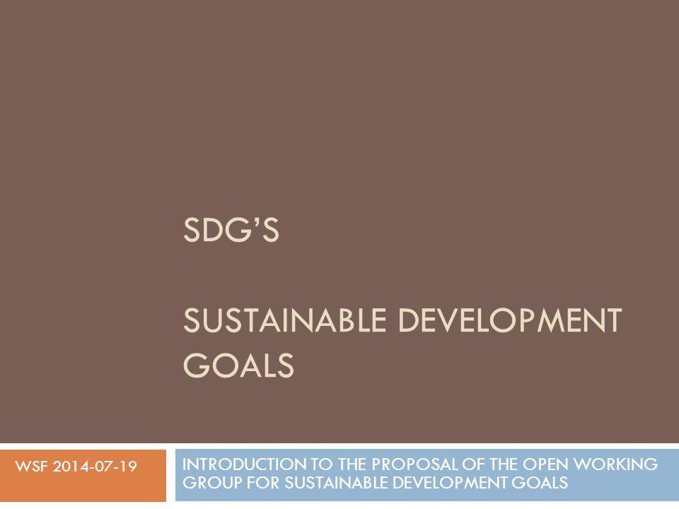 SDG's SUSTAINABLE DEVELOPMENT GOALS - ppt video online ...