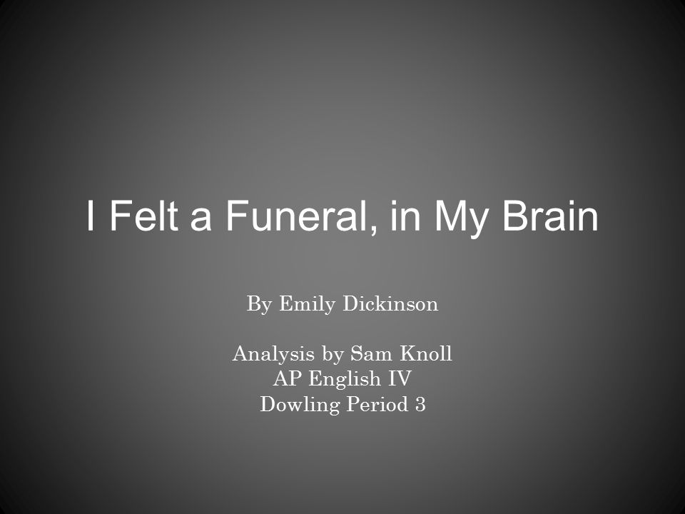 emily dickinson funeral my brain essay
