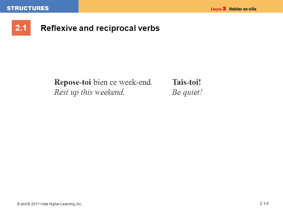 Reflexive and reciprocal verbs