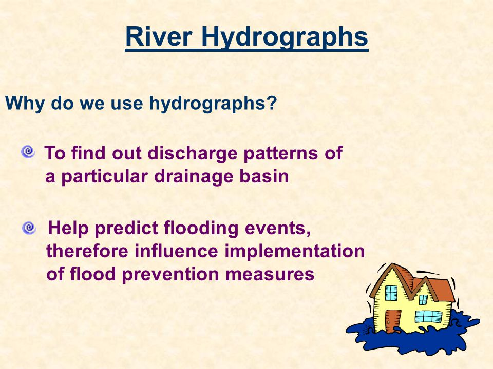 River Hydrographs Why do we use hydrographs