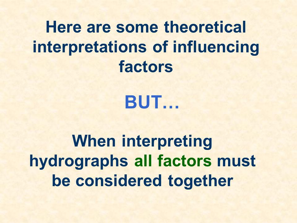 BUT… Here are some theoretical interpretations of influencing factors