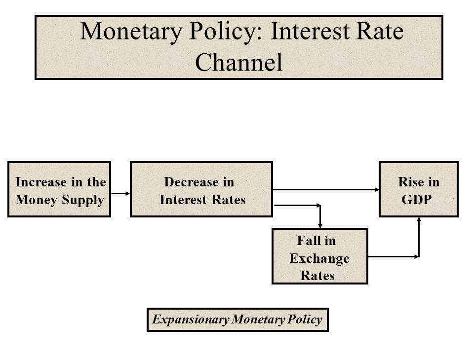 Monetary Policy: Interest Rate Channel