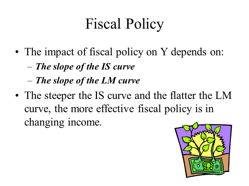 Fiscal Policy The impact of fiscal policy on Y depends on: