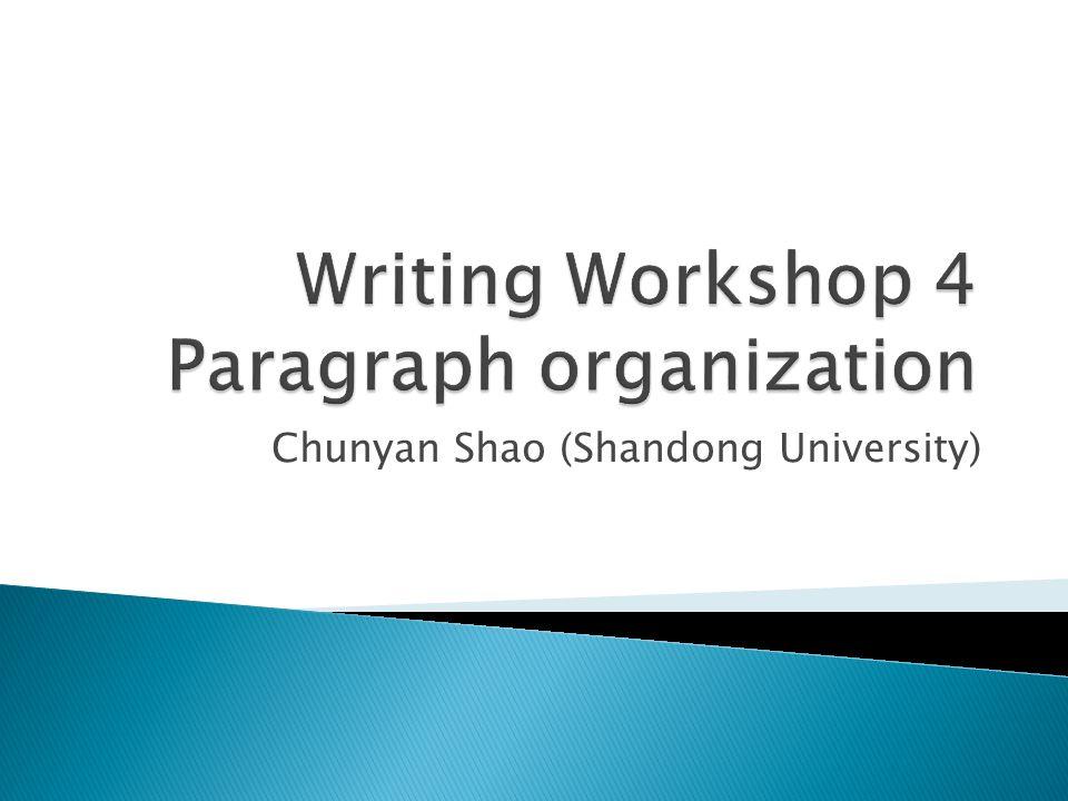 paragraph organization
