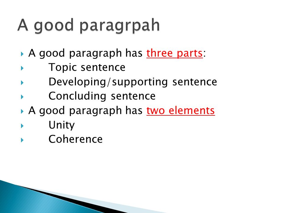 how to write a good paragraph topic sentence