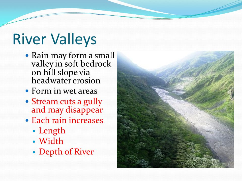 Chapter River Valleys. - ppt video online download V Shaped Valley