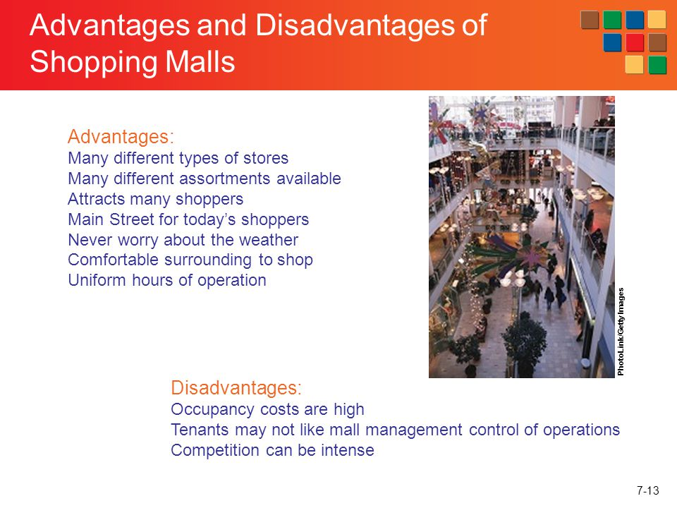 Advantages and disadvantages of shopping
