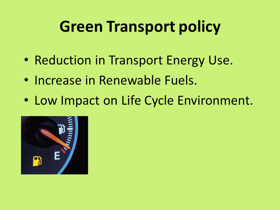 Green Transport policy