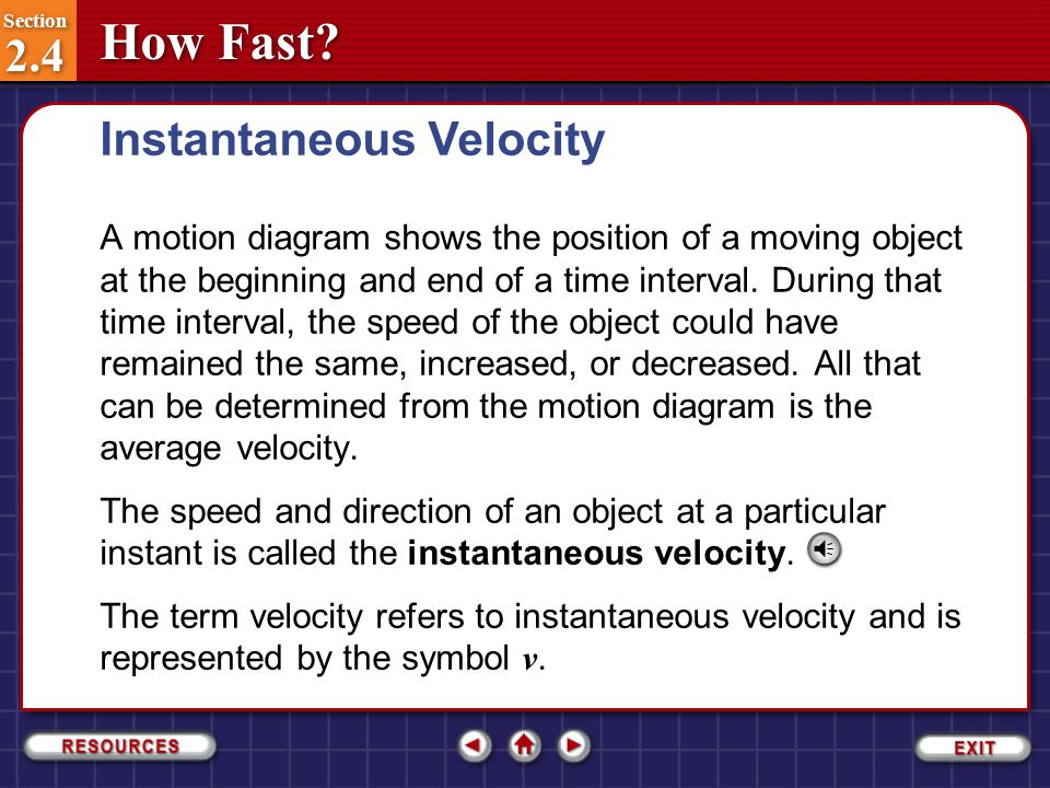 how to find velocity averagew