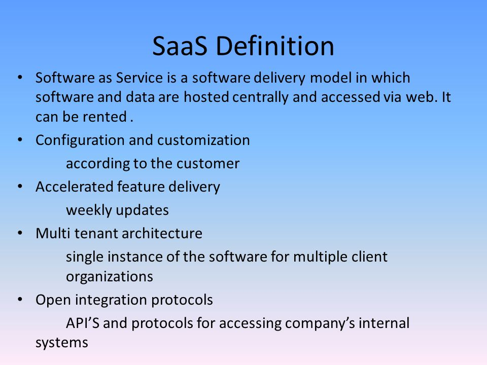 Introduction To Paas Saas Ppt Video Online Download