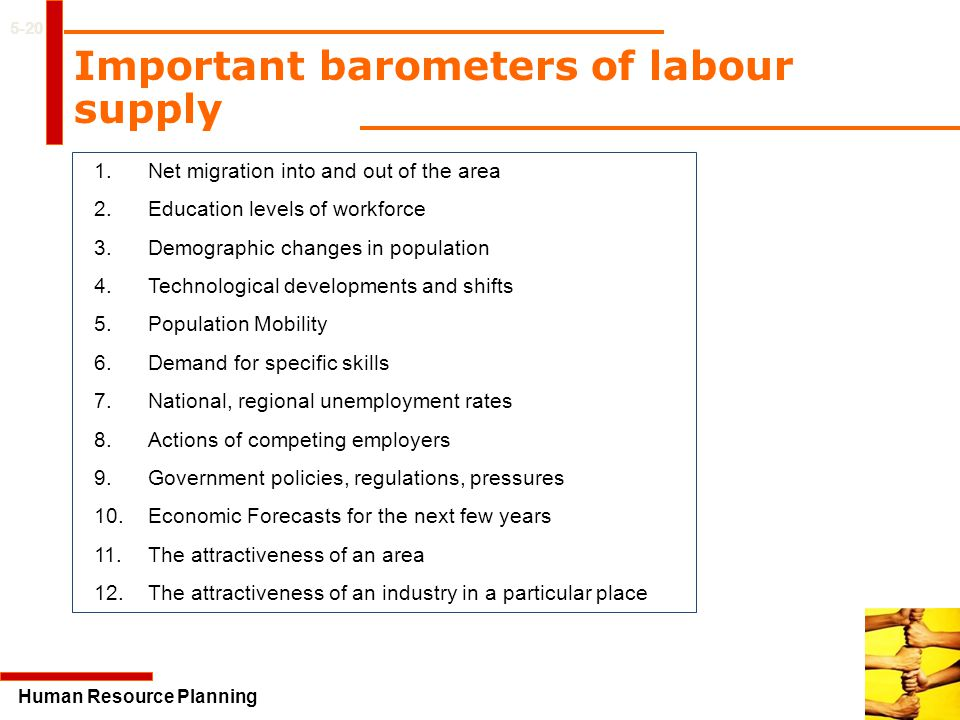 Important barometers of labour supply