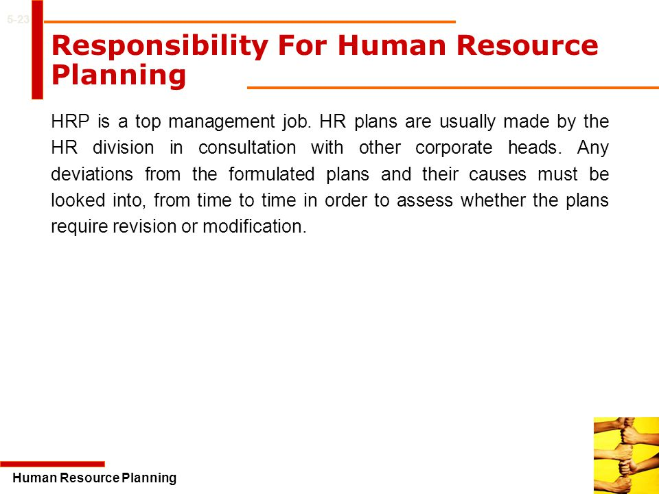 Responsibility For Human Resource Planning