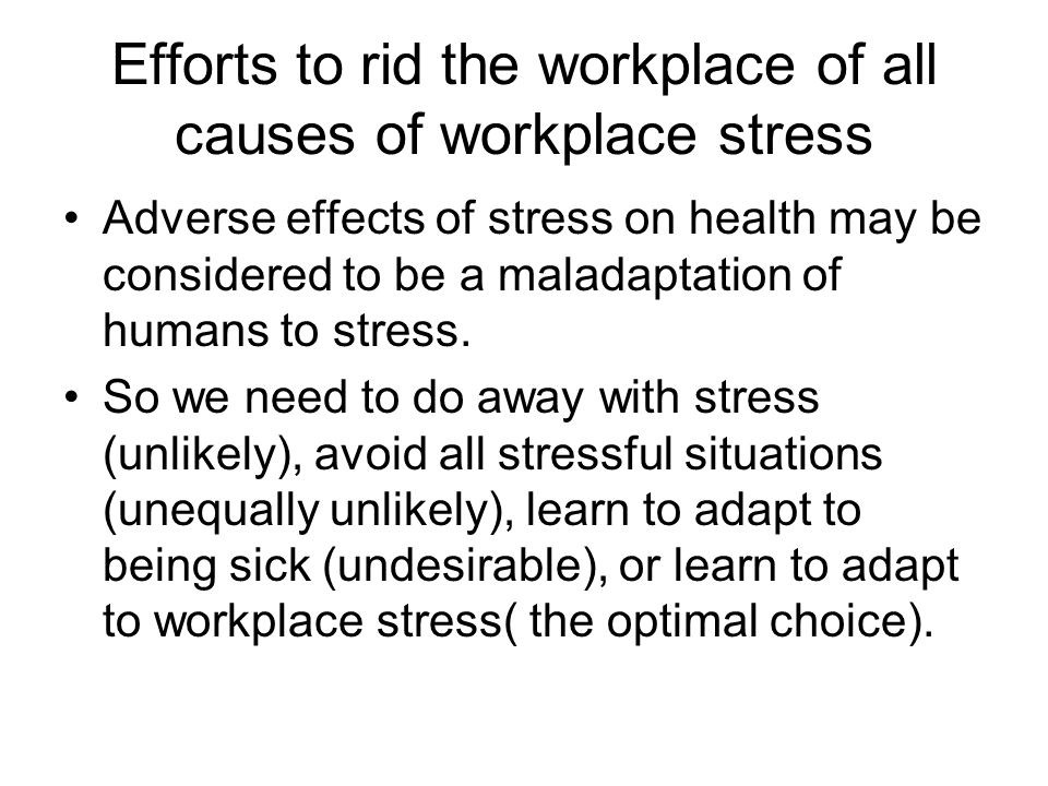 job stress causes and impacts Environment that cause stressful situations and negative health consequences of  the workplace stress stressors are pointed out in details that lead to stress at.