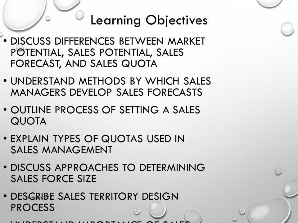 Write any two types of sales quota
