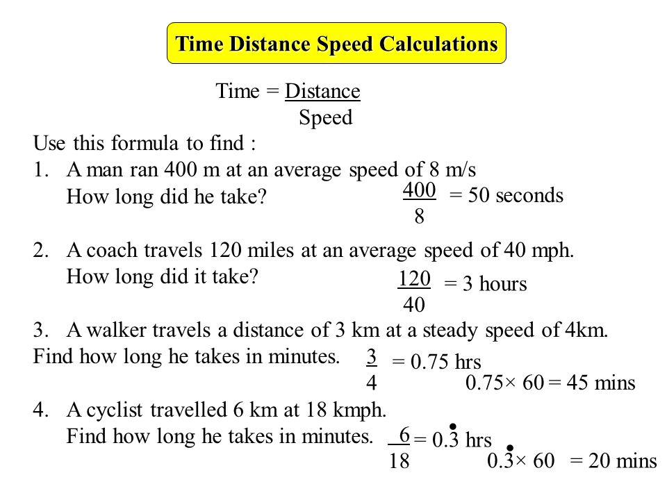 time distance speed calculations ppt video online download. Black Bedroom Furniture Sets. Home Design Ideas