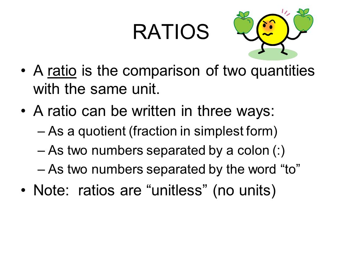 how to find the ratio of two quantities
