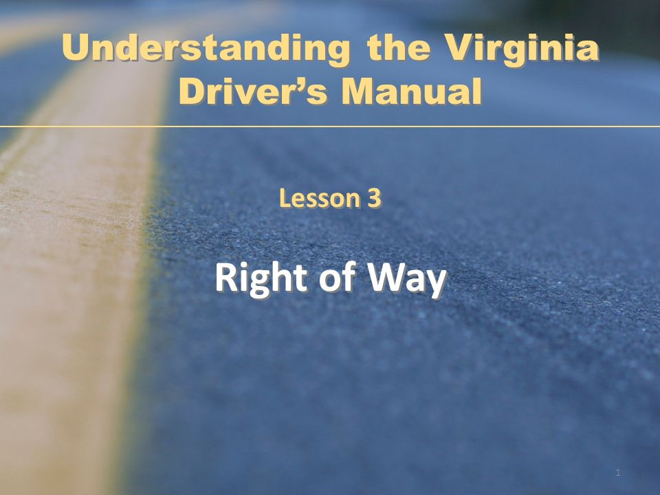 Understanding the Virginia Driver's Manual