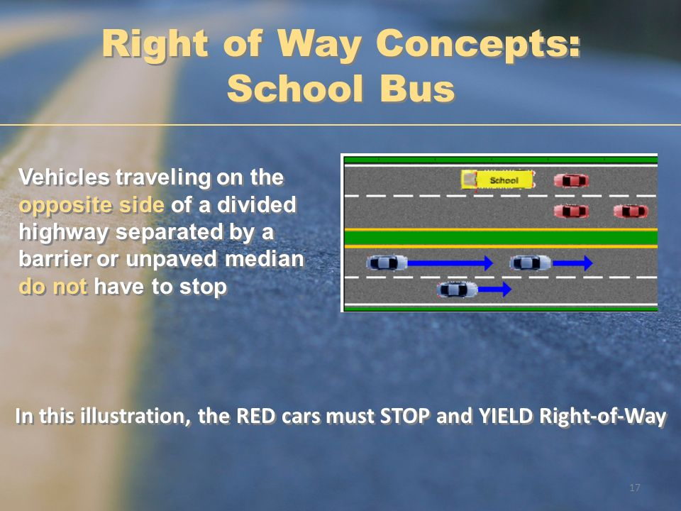 Right of Way Concepts: School Bus