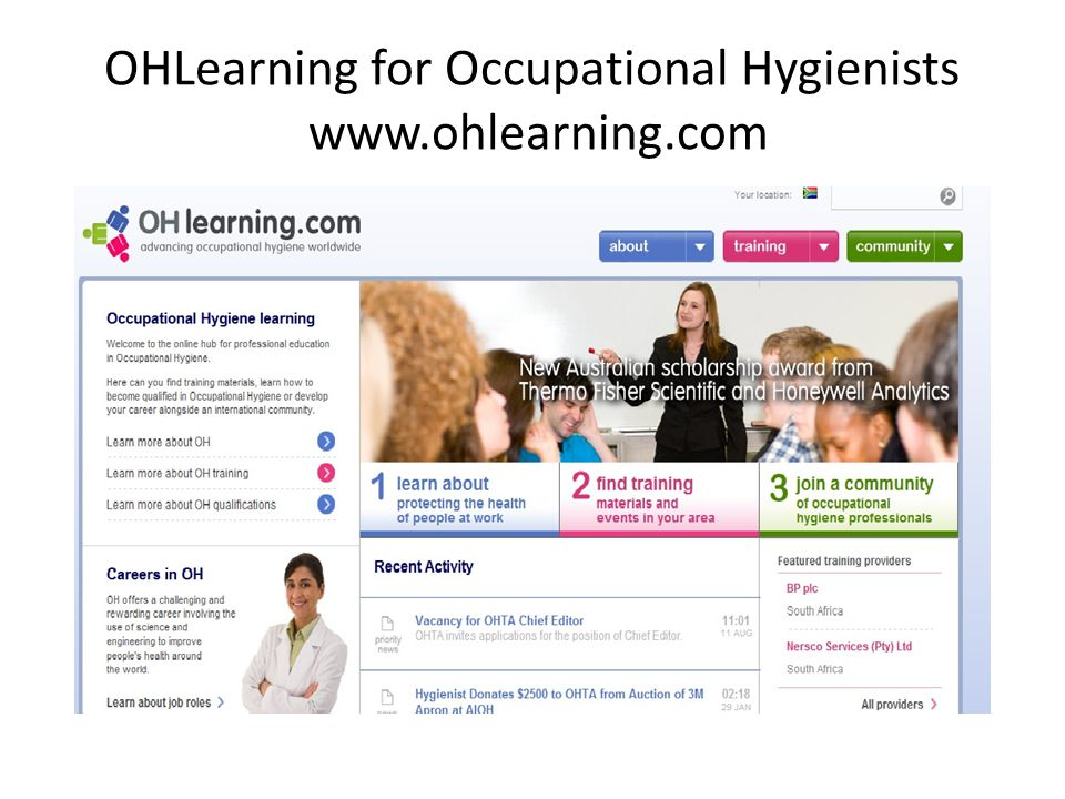 OHLearning for Occupational Hygienists www.ohlearning.com