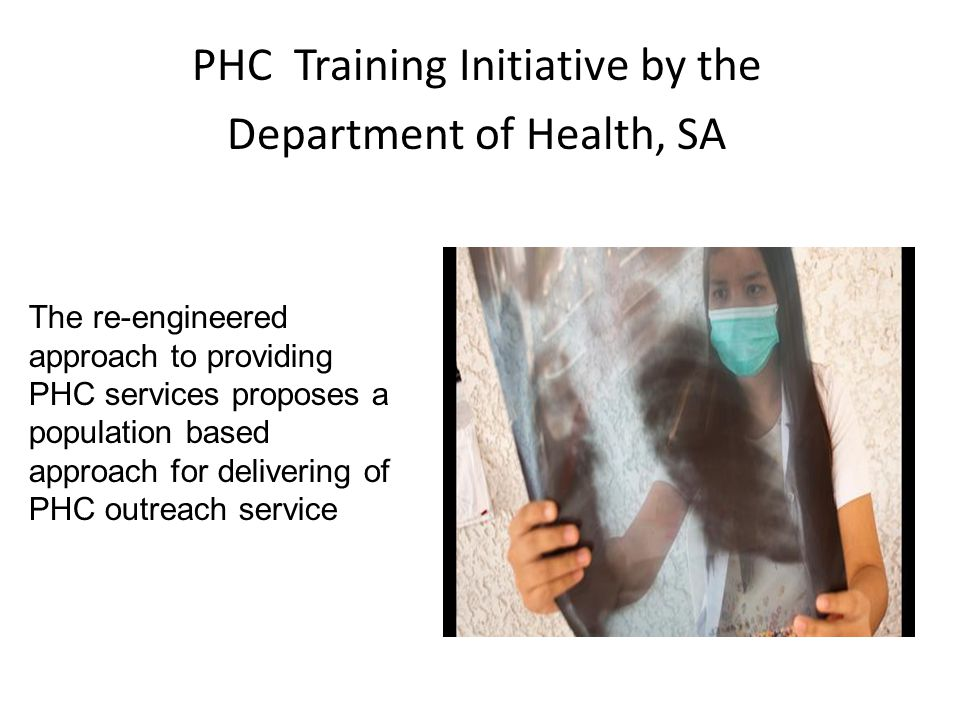 PHC Training Initiative by the Department of Health, SA
