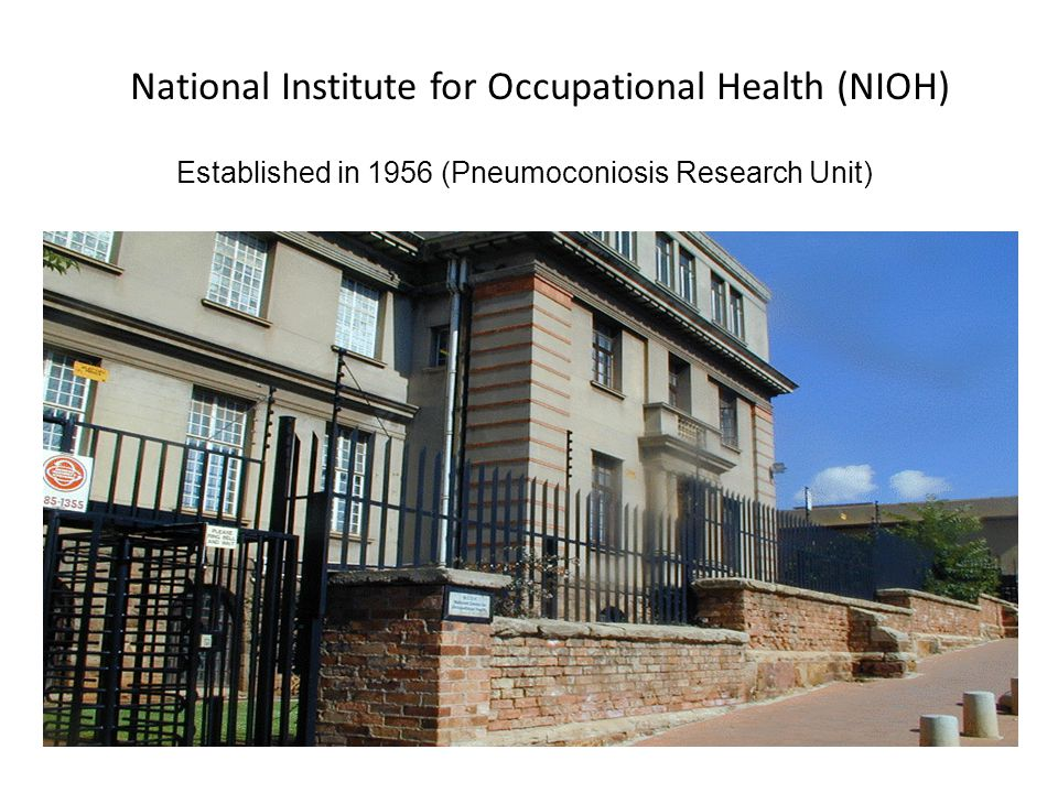 National Institute for Occupational Health (NIOH)
