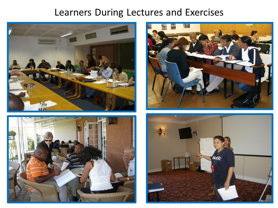 Learners During Lectures and Exercises