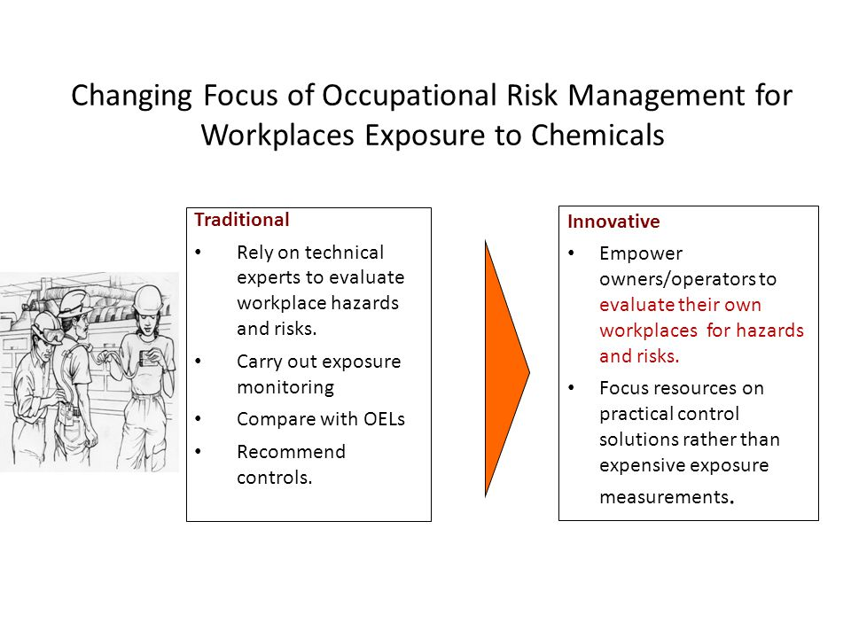 Changing Focus of Occupational Risk Management for Workplaces Exposure to Chemicals